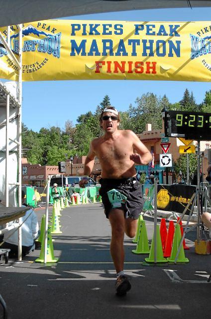 Pikes Peak Marathon and Double Finish 2009